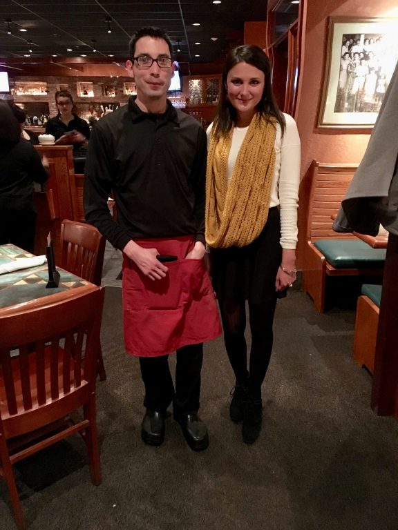 Our server, Ricky, at Carrabba's Italian Grill Restaurant, Rochester New York.