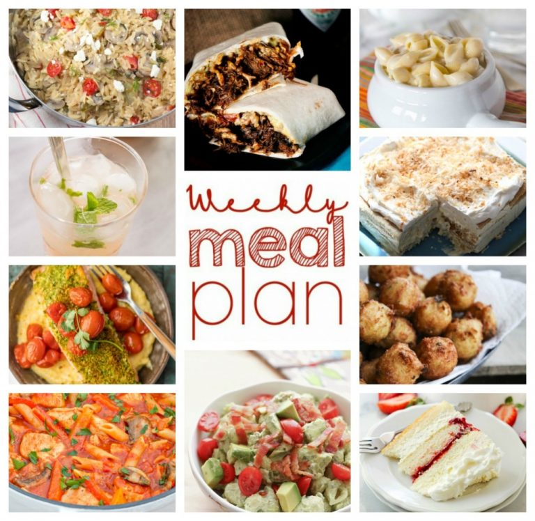 Weekly Meal Plan Week 36 - dinner, sides dishes, and dessert recipes to help you plan your family dinners for this week!