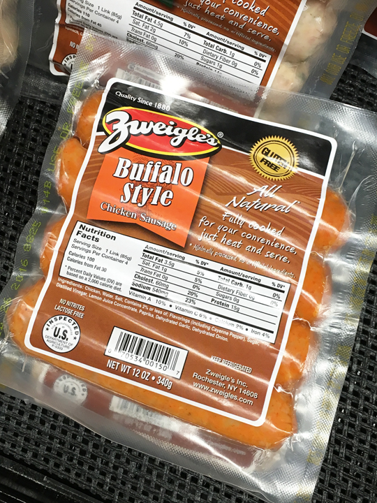 Zweigles Buffalo Chicken Sausage, Rochester New York