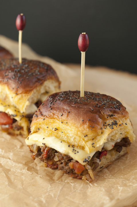 "Jalapeño Cheeseburger Party Buns recipe, also known as ""sliders"", is a mouth-watering way to feed a crowd quickly and easily with seasoned beef, gooey cheese, and a sweet glaze!"