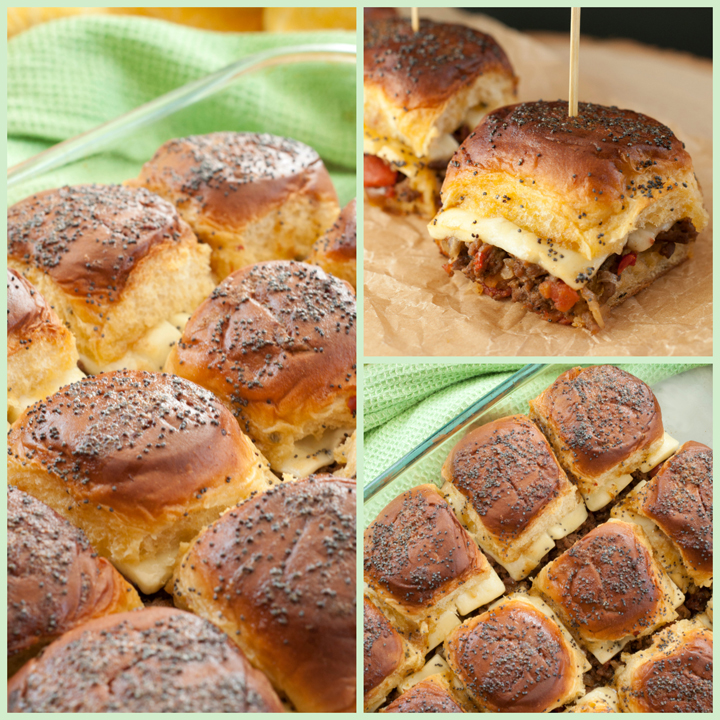 This recipe for Jalapeño Cheeseburger Party Buns (sliders), is a delicious way to feed a crowd quickly and easily with buttery rolls, seasoned beef, gooey cheese, and a brown sugar sweet glaze!