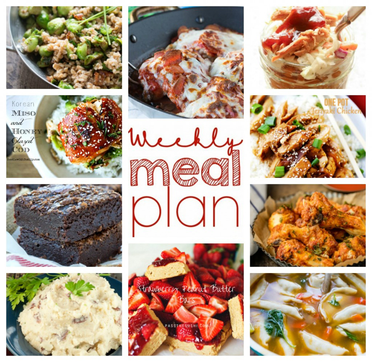 Here is your Weekly Meal Plan Week 40. I teamed up with 9 other bloggers to supply you with a full week of easy recipes that include your main course, sides dishes, and desserts!