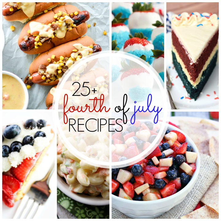 Over 25 Perfect 4th of July Recipes that are perfectly festive and patriotic for the holiday!