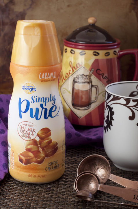 International Delight New Simply Pure Caramel Coffee Creamer photo with a clean label.