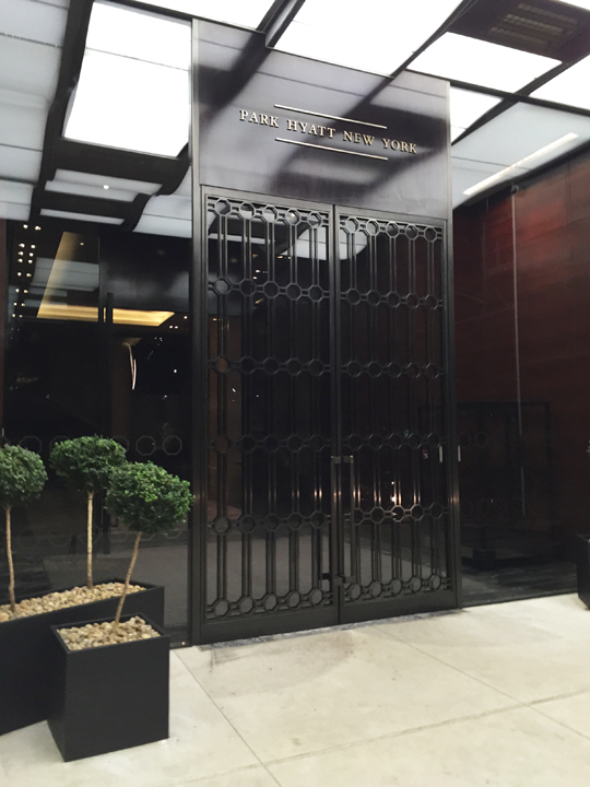 Park Hyatt New York entrance in Times Square, Manhattan