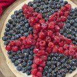 Patriotic Sugar Cookie Fruit Pizza