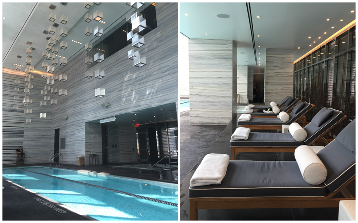 The pool at the Park Hyatt New York