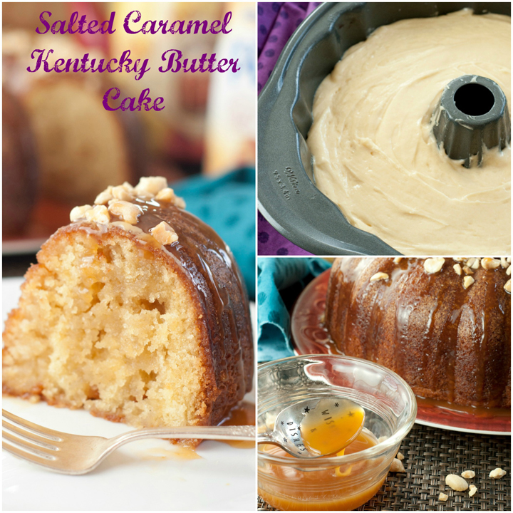 Salted Caramel Kentucky Butter Cake recipe is a homemade moist and buttery cake with an irresistible caramel butter sauce that is rich, addictive, delicious, and soaks right into the cake! It is topped off with a salted caramel sauce.