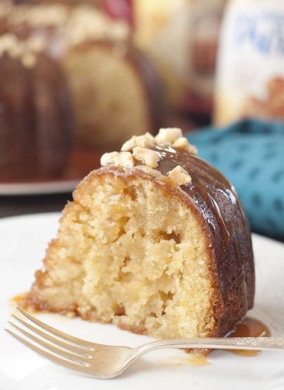 Salted Caramel Kentucky Butter Cake is a homemade moist and buttery cake recipe with an irresistible caramel butter sauce that is rich, addictive, delicious, and soaks right into the cake!
