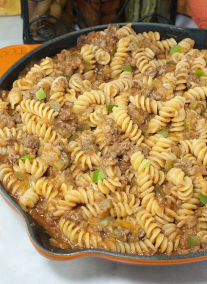 Sloppy Joe Macaroni and Cheese recipe is an easy family-friendly meal made in under 30 minutes for pure comfort food everyone will go crazy for!