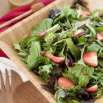 Strawberry Arugula Salad with Honey Lime Vinaigrette