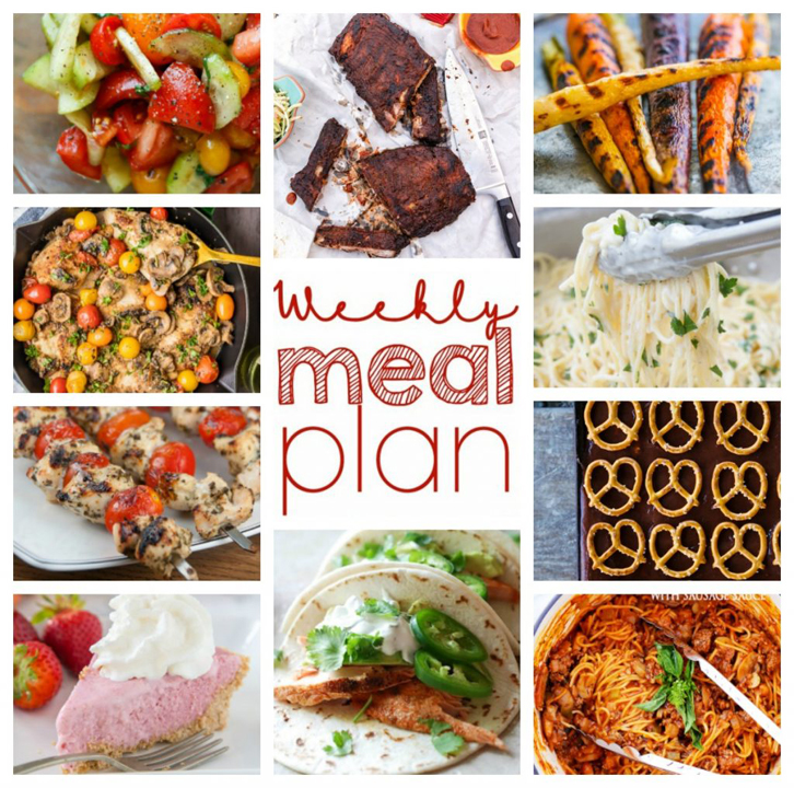 Weekly Meal Plan {Week 48} - 10 great bloggers collaborating to bring you a full week of new and fresh recipe ideas including dinner, sides dishes, and desserts!