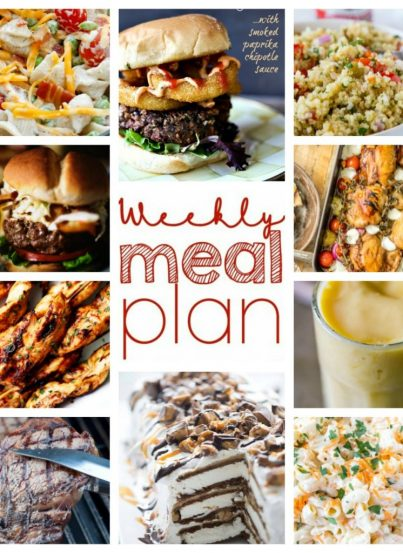 Weekly Meal Plan {Week 50} is packed with great ideas - dinner, sides, and desserts - for the 4th of July picnics you may be planning!
