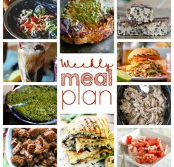 Weekly Meal Plan {Week 51} – 10 great bloggers bringing you a full week of recipe ideas including dinner, sides dishes, and desserts!