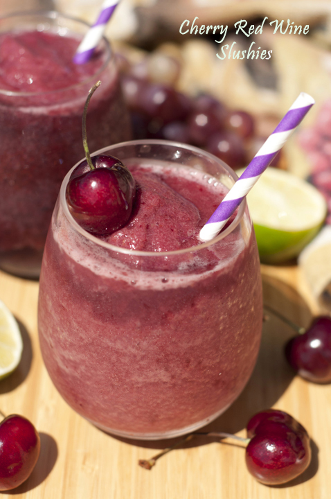 You only need a few ingredients to make these Cherry Red Wine Slushies that will cool you right off on a warm day!  This fun recipe will be a hit at your next party!