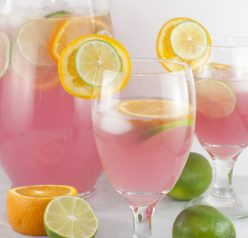 Sangria Punch {Kid-Friendly} recipe is so refreshing and will cool you off on these hot summer days! This drink would be great for holidays or any parties year 'round!