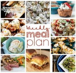 Here is the Weekly Meal Plan {Week 52} where I teamed up with 10 bloggers to bring you a full week of easy recipes including dinner, sides dishes, and desserts!