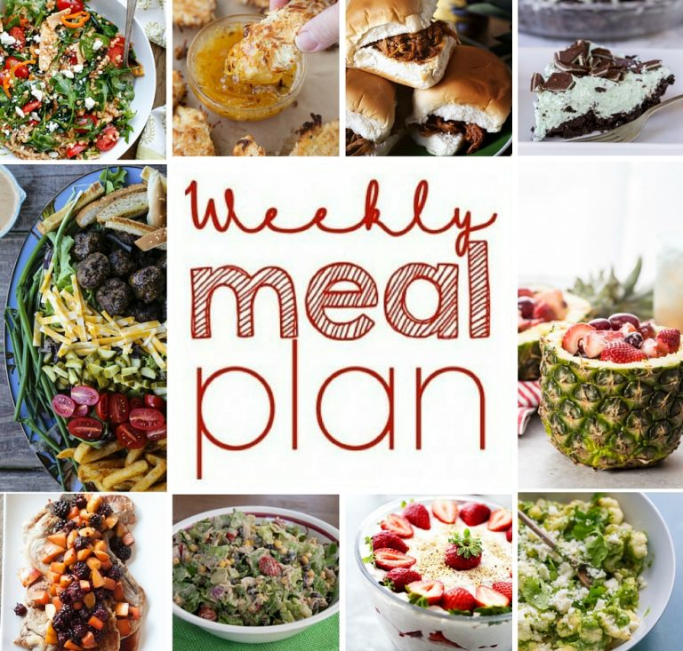 Weekly Meal Plan {Week 53} – 10 great bloggers bringing you a full week of great recipes including dinner, sides dishes, and sweet desserts!