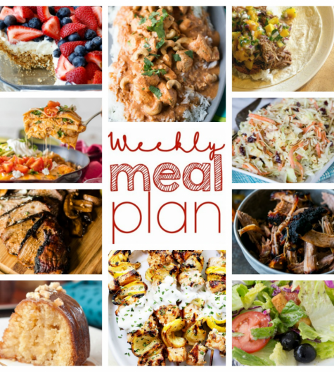 Weekly Meal Plan {Week 54} is a great collection of bloggers' recipes including dinner, sides dishes, and desserts! Create your meal plan from this weeks' plan and please the whole family!
