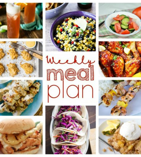 Weekly Meal Plan {Week 55} – 10 great bloggers bringing you a full week of recipes including dinner, sides dishes, and desserts to complete your week!