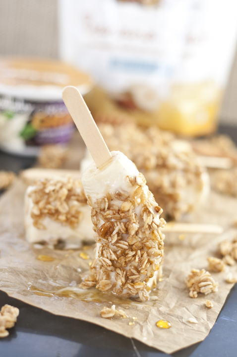 Banana Nut Yogurt Breakfast Banana Pops are a nutritious, gluten-free snack or quick and easy breakfast for the whole family!