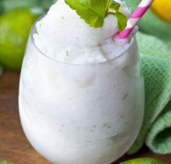"Frozen Coconut Mojito drink recipe, or ""Cocojito"", is an icy taste of summer that is laced with coconut and has the traditional lime and mint flavors we all love in a good Mojito!"