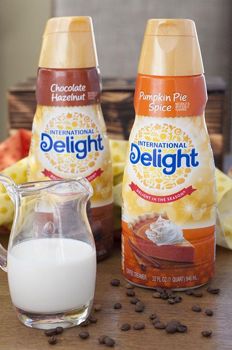 International Delight Pumpkin Spice Creamer and Chocolate Hazelnut Creamer Picture.