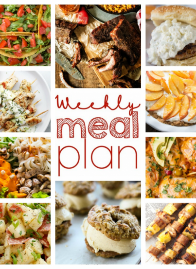 Weekly Meal {Week 56} – 10 food bloggers bringing you a full week of our favorite dinner recipes, sides dishes, and easy desserts!