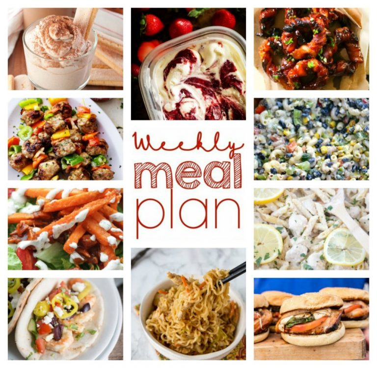 Weekly Meal Plan {Week 57} – ten food bloggers providing you with a full week of recipes including dinner, sides dishes, and desserts!