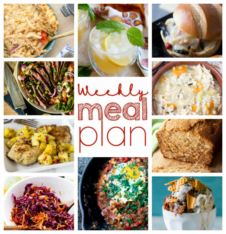 Weekly Meal Plan {Week 59} - ten great bloggers bringing you a full week of recipes including dinner, sides dishes, drinks, and desserts!