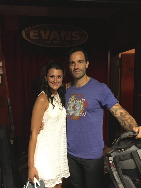Our friend from Broadway, Ramin Karimloo, backstage at BB King