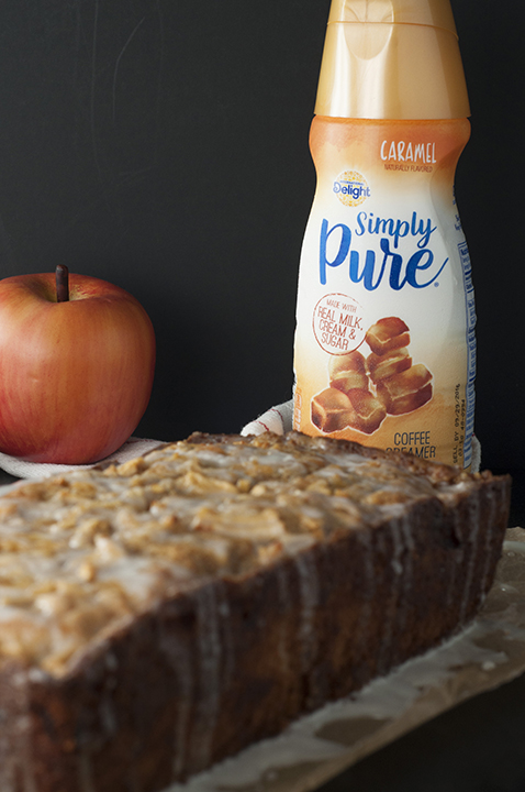 Caramel-Glazed Country Apple Fritter Bread recipe is a moist, sweet, delicious cake-like bread loaded with chunks of fresh apple and swirled with cinnamon sugar. This is the perfect fall breakfast or dessert!