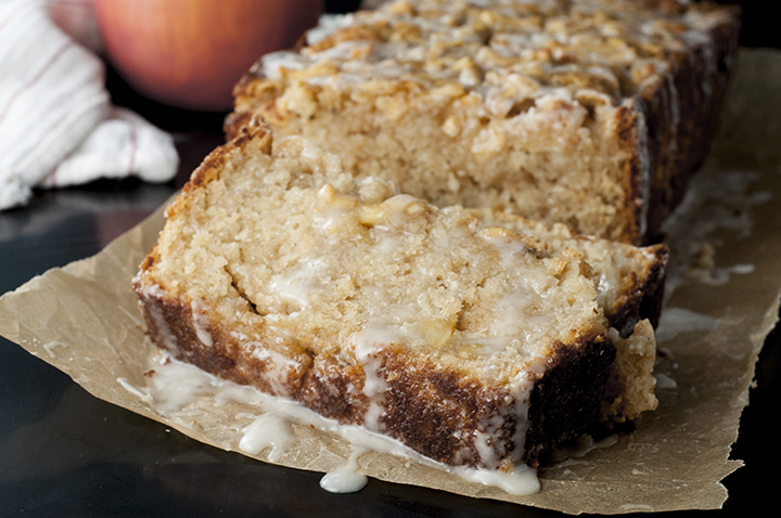 Caramel-Glazed Country Apple Fritter Bread recipe is a moist, sweet, delicious cake-like bread loaded with apple chunks and swirled with cinnamon sugar. This is great for breakfast or dessert for the holidays or any day!