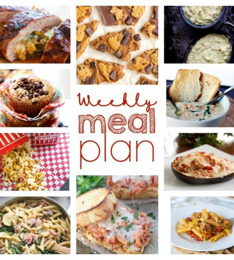 Weekly Meal Plan {Week 61} – 10 great bloggers bringing you a full week of recipes including dinners for back-to-school time, sides dishes, and desserts!