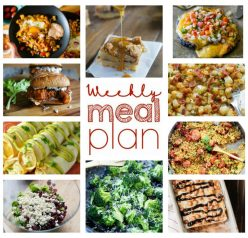 Weekly Meal Plan {Week 62} – 10 great bloggers bringing you a full week of super quick and easy recipes including dinner, sides dishes, and desserts!
