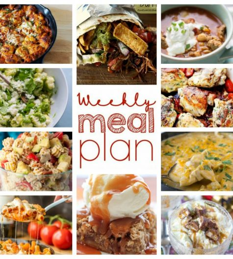 Your Weekly Meal Plan {Week 63} – 10 food bloggers coming together to bring you a full week of recipes including dinner, sides dishes, and desserts!