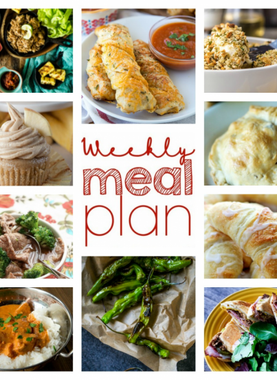 Bringing you the Weekly Meal Plan {Week 64} put together by 10 great bloggers - a full week of recipe ideas for dinner, sides dishes, and desserts!