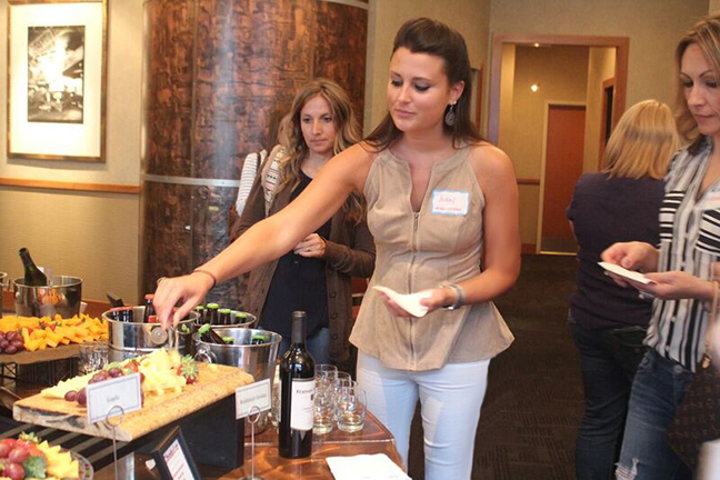 Wine and Cheese Pairing at the Hyatt Arcade in Cleveland Ohio.