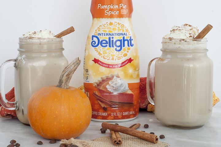 Easy Crock Pot Pumpkin Spice Lattes meant for a crowd and the perfect recipe to serve at a fall party! It would also be great for a potluck or Thanksgiving.