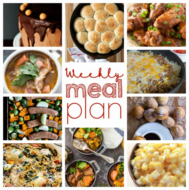 Weekly Meal Plan {Week 65} - myself and a fabulous bunch of bloggers working together to bring you a full week of simple, family-friendly recipes including dinner, sides dishes, and desserts!