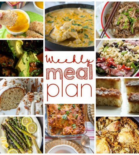 Weekly Meal Plan {Week 66} – 10 bloggers bringing you a full week of recipes including dinners for the whole family, sides dishes, and delectable desserts!
