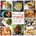 Weekly Meal Plan {Week 67} - 10 great bloggers bringing you a full week of recipes for this fall season including dinner, sides dishes, and desserts!