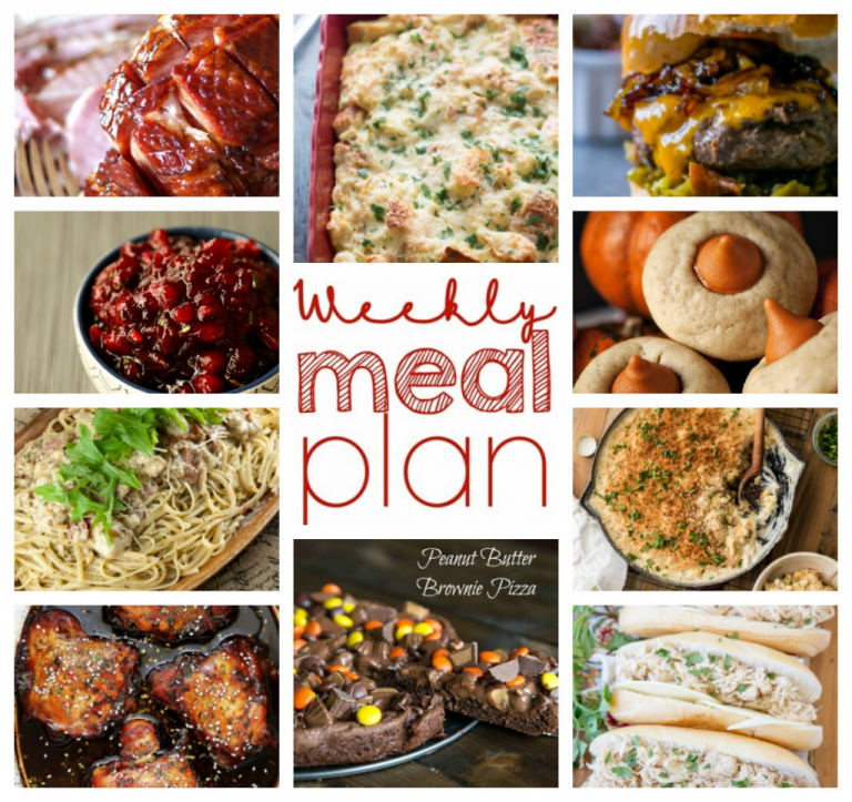 Weekly Meal Plan {Week 68} – 10 great bloggers bringing you a full week of recipes including fall dinners, sides dishes, and desserts!
