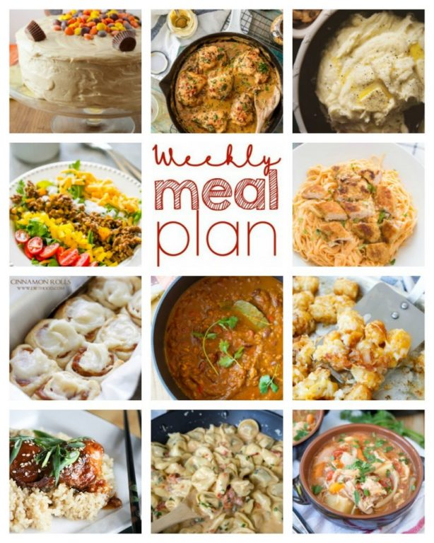 Weekly Meal Plan {Week 69} – 11 great food bloggers banding together to you a full week of comforting, delicious recipes: dinner, sides dishes, and desserts!