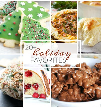 Make your holidays merry with 20 Favorite Holiday Recipes great for cookie exchanges, get-togethers, or Christmas parties!