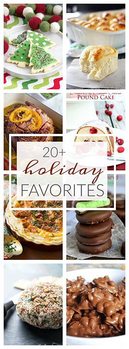 Make your holidays merry with 20 Favorite Holiday Recipes great for dessert or cookie exchanges, get-togethers, or Christmas parties!