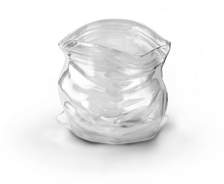 Hand Blown Glass Snack or Candy Unzipped Bag Photo