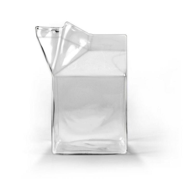 Half Pint Glass Milk Carton Creamer
