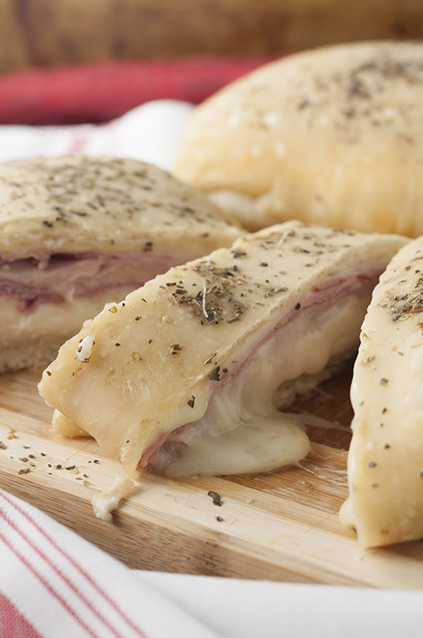 Ham and Cheese Stromboli {Wishes & Dishes}