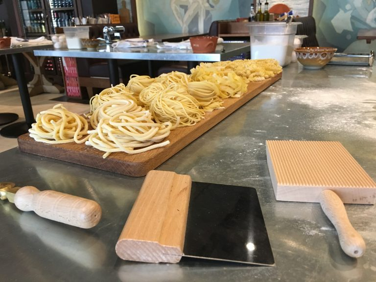 Pasta making class at Jamie's Italian, Harmony of the Seas
